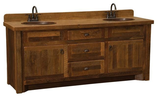 barnwood vanity with laminate top 5 foot 6 foot double sink 60
