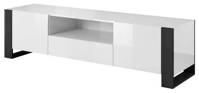 Woody 71 Modern All High Gloss Tv Stand Modern Entertainment Centers And Tv Stands By Meble Furniture