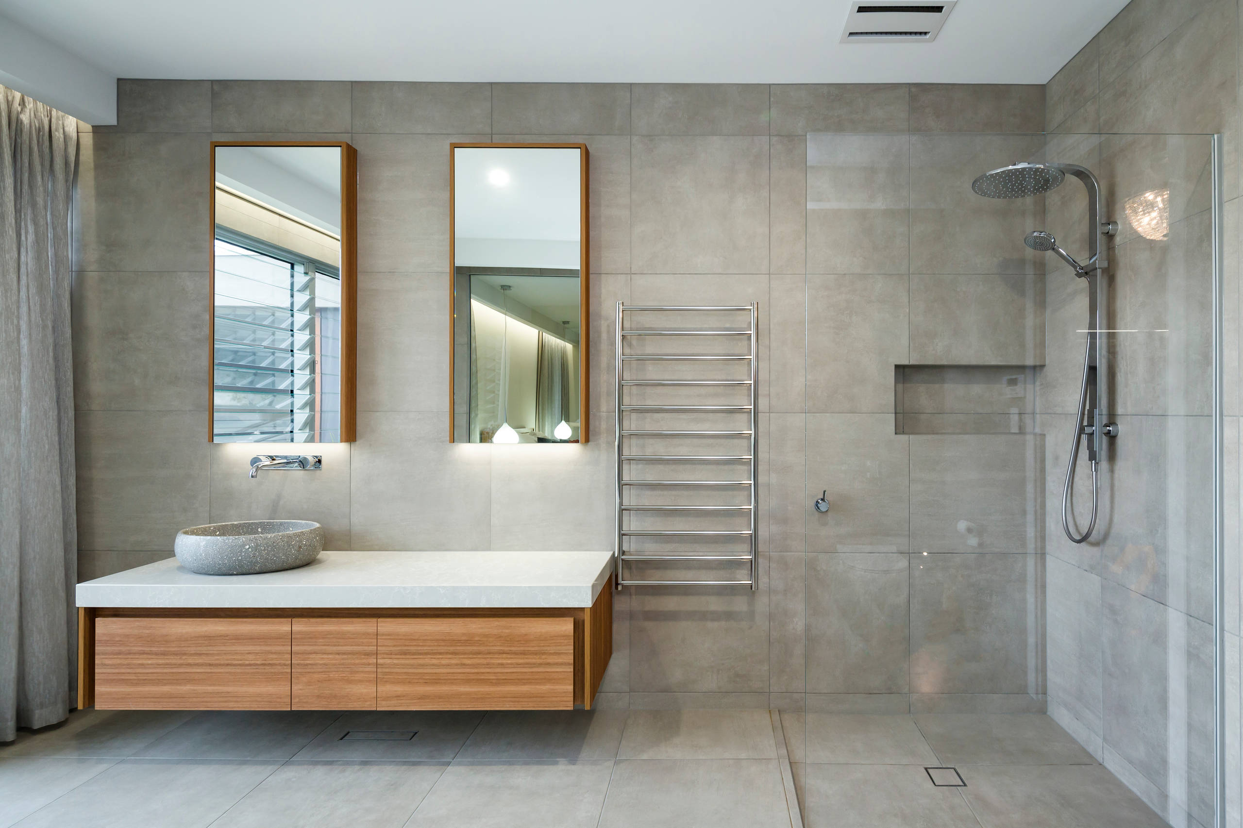 75 Beautiful Gray Cement Tile Bathroom Pictures Ideas Houzz