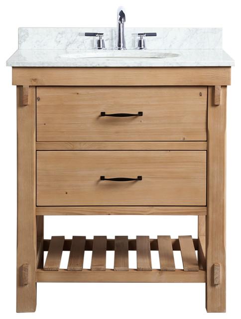 marina 30 bathroom vanity driftwood finish