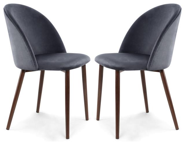 Poly And Bark Sedona Velvet Dining Chair, Set Of 2