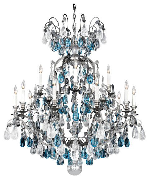 Schonbek Lighting 3573 47ad Renaissance Rock Crystal Pewter 16 Light Chandelier Victorian Chandeliers