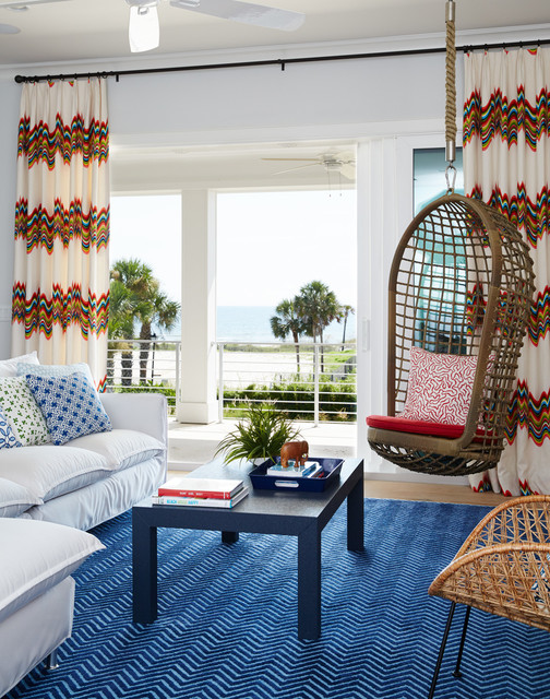 Surf Shack Beach Style Living Room By Andrew Howard Interior Design