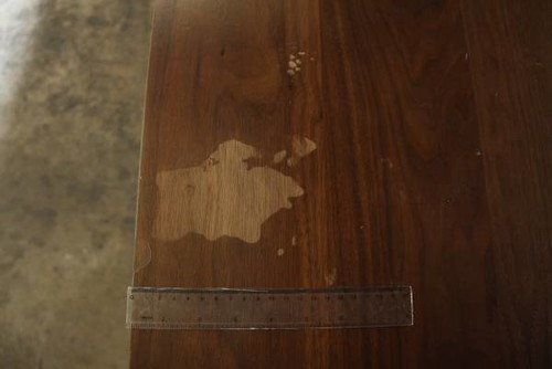Fixing Nail Polish Remover Damage On A Solid Walnut Table