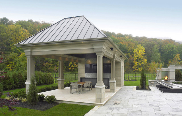 Contemporary Outdoor Dining Area - Traditional - Patio ... on Backyard Dining Area Ideas id=40926