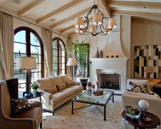 California Mediterranean eclectic-living-room