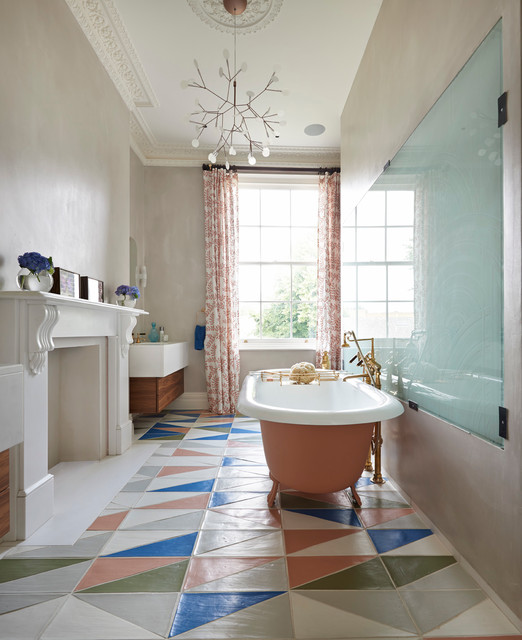 London Townhouse, Notting Hill contemporary-bathroom