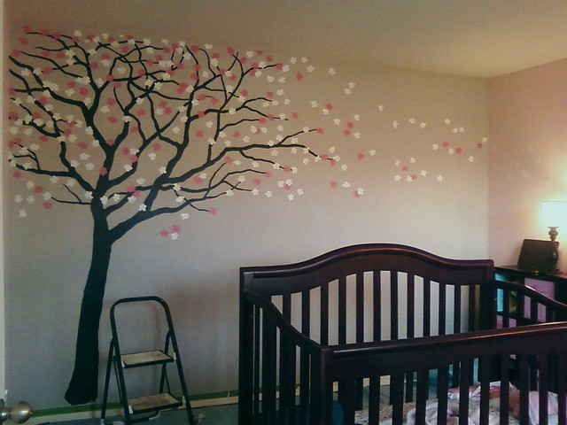 Cherry Blossom Nursery Traditional Kids New Orleans