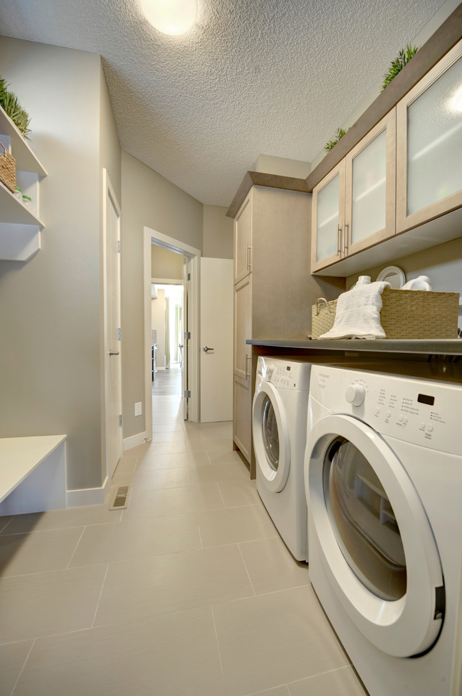 look homes apparation contemporary laundry room on laundry room wall covering ideas id=58603