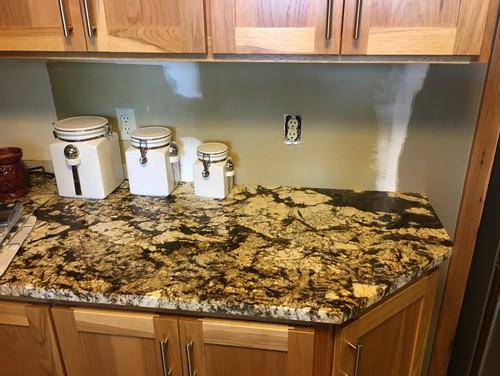 Need backsplash ideas for busy granite countertops in kitchen. on Kitchen Backsplash Backsplash Ideas For Granite Countertops  id=61734