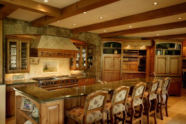 Storm Mountain Ranch House Rustic Kitchen Denver