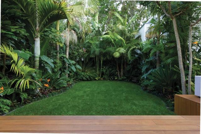 A tropical garden landscape introducing flow - Tropical ... on Tropical Backyard Landscaping  id=88892