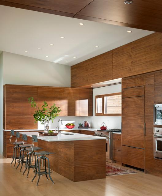 Lake Blaine Summer Retreat Contemporary Kitchen