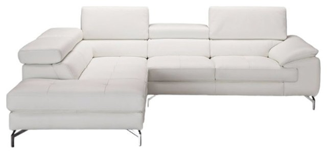 nila premium leather sectional sofa white left hand facing chaise