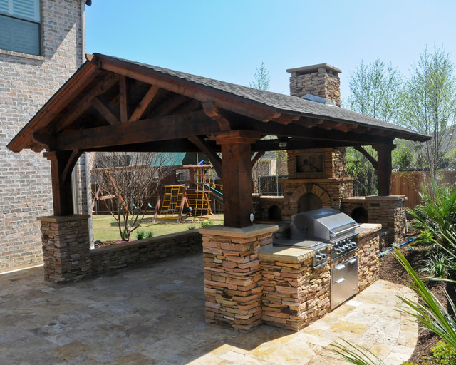 Overhead Structure/Grilling Station/Fireplace on Patio Grill Station  id=78653