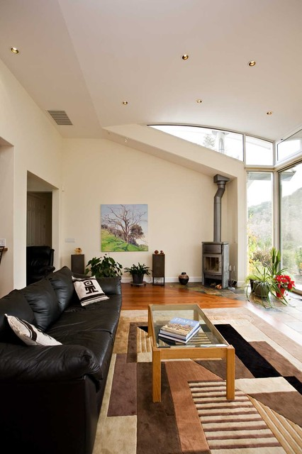 Curved Ceiling And Wood Burning Stove