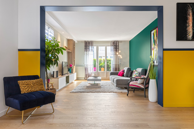 10 idees pour un salon colore