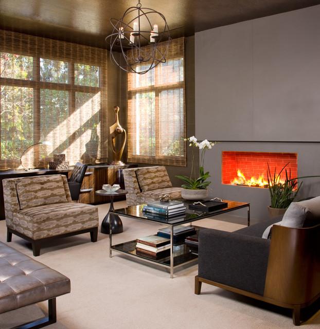 Hollywood Glamour Meets Modern - Modern - Living Room ...