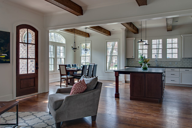 Living Room with Creole Style Rustic Wood Beams - Rustic ... on French Creole Decorating Ideas  id=52781