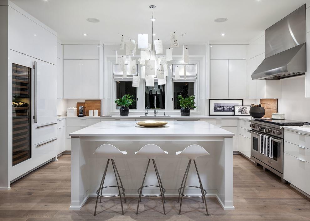 Modern white kitchen - Contemporary - Kitchen - Portland ... on Kitchen Counter Decor Modern  id=76729
