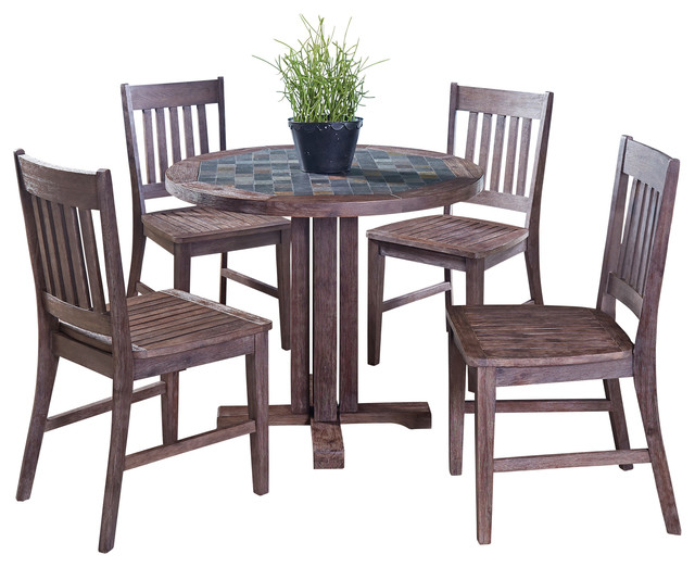 Morocco 5-Piece Indoor/Outdoor Dining Set With Square