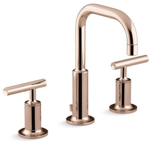 kohler purist widespread bathroom faucet vibrant r rose gold