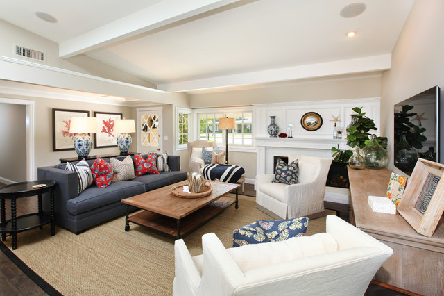 Coastal Modern By Tim Clarke Beach Style Living Room
