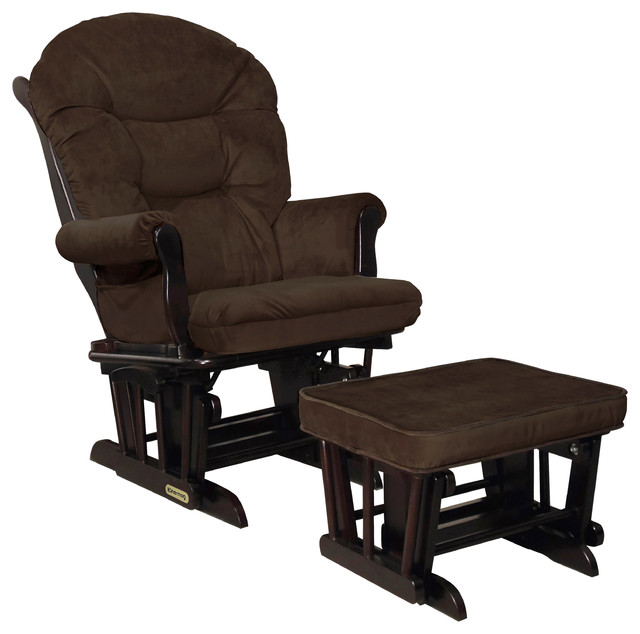 shermag combo glider and ottoman espresso and mocha Shermag Glider Chair id=39995