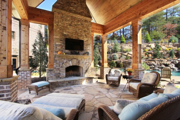 outdoor living patio and pool Outdoor Living: Swimming Pools, Pool Cabanas, Outdoor
