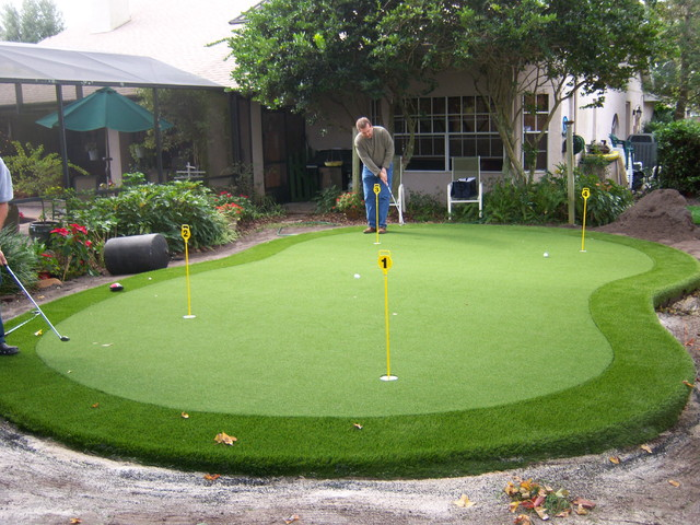 Residential Synthetic Putting Green Pictures - Eclectic ... on Putting Green Ideas For Backyard id=66289