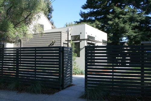 What Color Stainpaint Was Used On The Dark Grey Fence