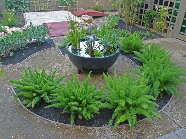 Contemporary grassless landscape in West University ... on Grassless Garden Ideas  id=98892