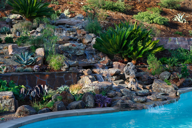 Backyard Hill Landscape Design Ideas, Carlsbad, CA ... on Hill Backyard Ideas id=54835
