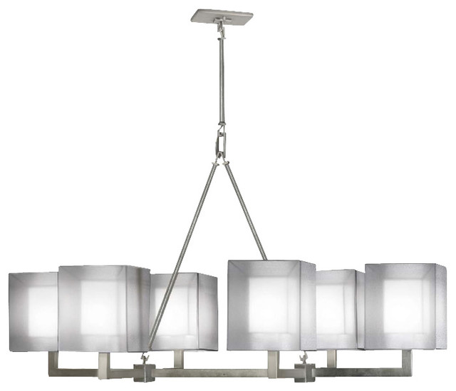 Fine Art Lamps Quadralli Silver Chandelier 331440 2st Contemporary Chandeliers