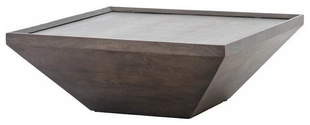 abby coal gray reclaimed wood square coffee table 42