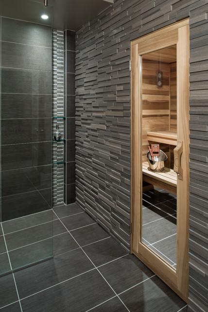 Basement Spa Bath And Sauna Contemporary Bathroom Ottawa By Just Basements