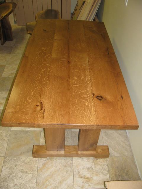 Quarter Sawn White Oak Table Farmhouse Dining Tables