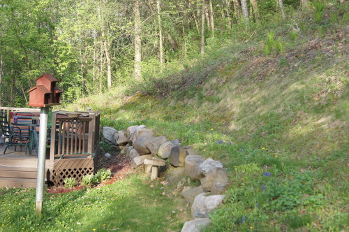 Sloping backyard design help on Uphill Backyard Ideas  id=45998