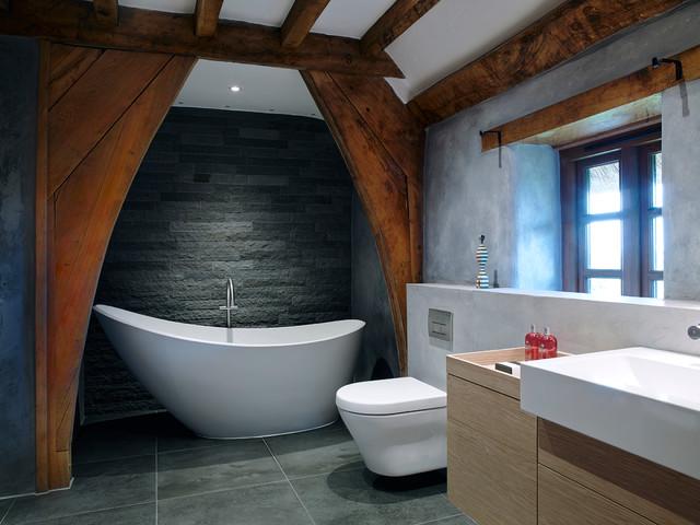 Rural Thatched Cottage - Devon - Country - Bathroom ... on Rural Bathroom  id=42072