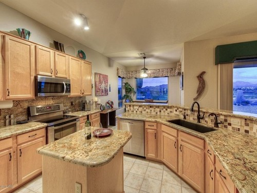 Ideas on updating/modernizing maple cabinets? on What Color Countertops Go With Maple Cabinets  id=57543