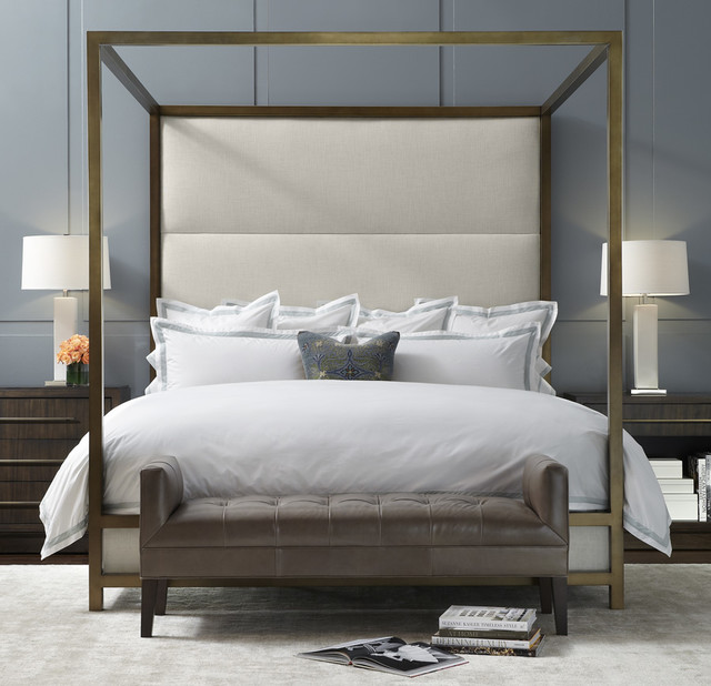 banks four poster bed minimalistisch