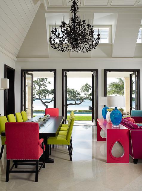 Florida Beachfront Residence - Vero Beach, USA tropical-dining-room
