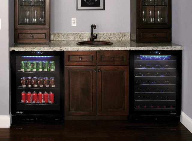 Wine And Beverage Cooler In Home Bar Contemporary Los Angeles By Vinotemp