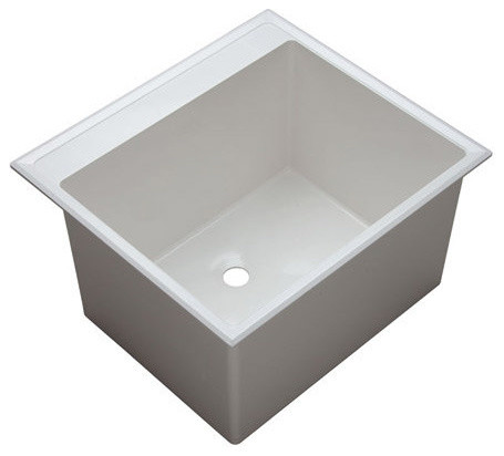 proflo pflt2522d 24 1 2 single basin drop in composite laundry white