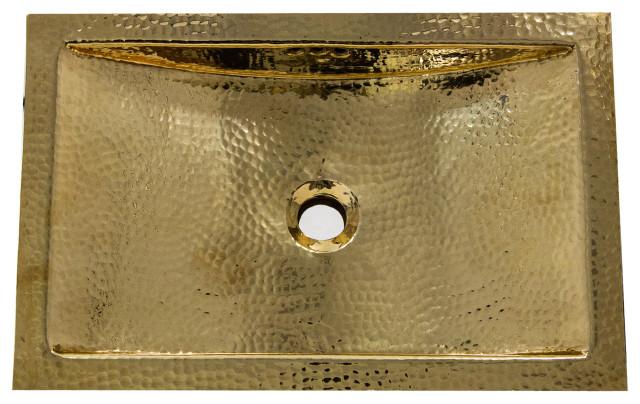 nantucket sinks 19 8 x12 8 hammered brass rectangle undermount bathroom sink