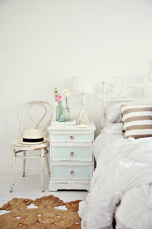 Vintage Coastal Beachy Nightstand Bedside