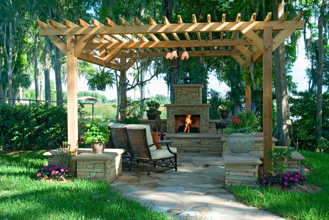 Outdoor Living Space - Transitional - Patio - Charleston ... on Houzz Outdoor Living Spaces id=11503