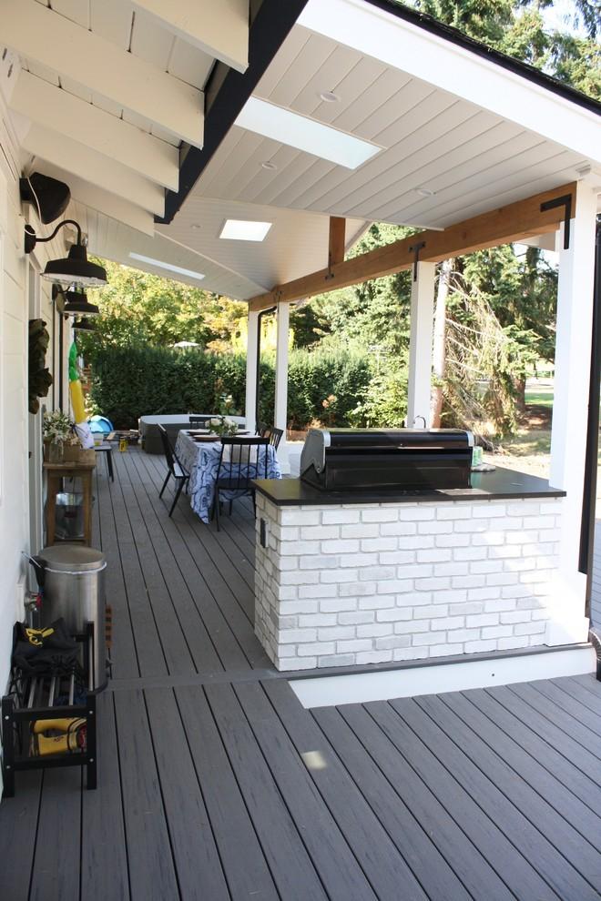 Modern Farmhouse Outdoor Living Space - Farmhouse - Deck ... on Farmhouse Outdoor Living Space id=45581