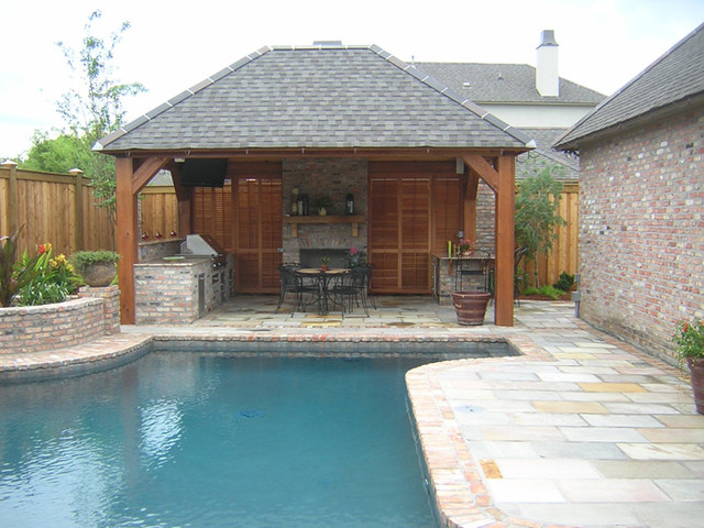 Pool Cabana - Traditional - Pool - New Orleans - by Ferris ... on Cabana Designs Ideas id=17189