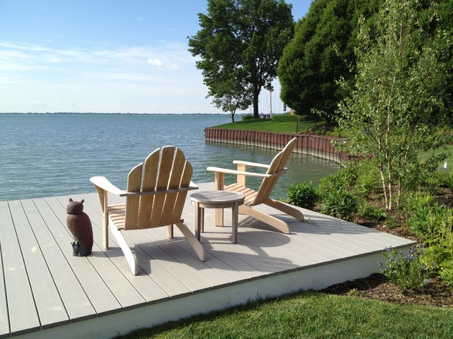 Lakefront Landscape - Traditional - Deck - Detroit - by ... on Lakefront Patio Ideas id=85494